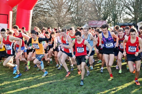Cardiff Cross 2015 - Men's start